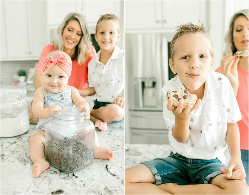 Photos of Krista with her two children