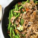 Healthy Green Bean Casserole Recipe with Homemade Fried Onions