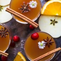 hot spiked mulled apple cider in a cup