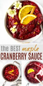 Homemade Maple Cranberry Sauce
