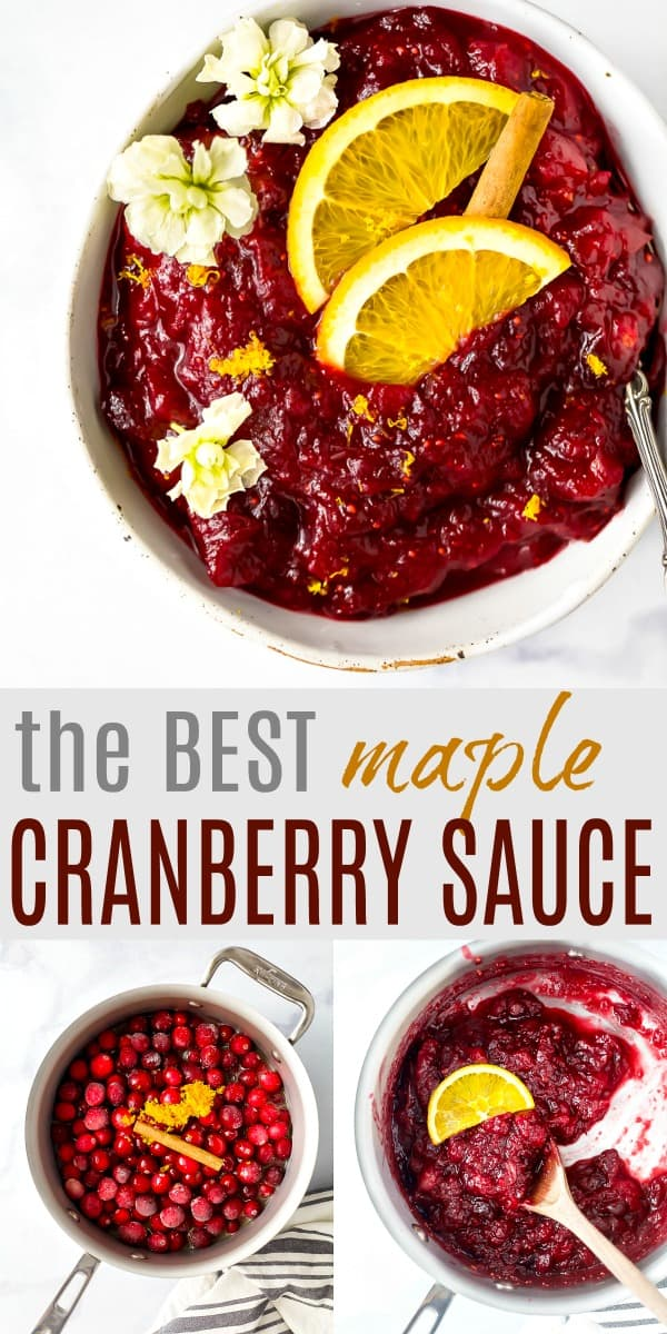 homemade maple cranberry sauce image for pinterest