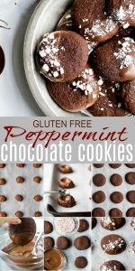 pinterest pin for gluten free peppermint chocolate cookies