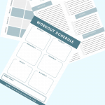 pinterest pin for free printable for meal plan and workout planne