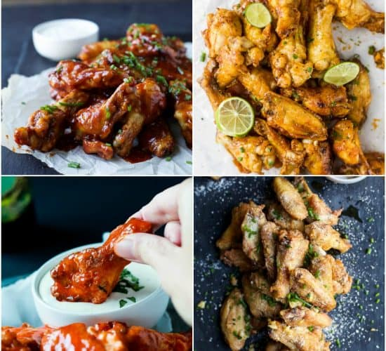 a collection of 8 of the Best Chicken Wing Recipes that are a Game Day Must