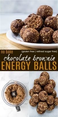 no bake chocolate brownie energy balls pinterest pin