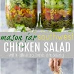 Mason Jar Southwest Chicken Salad with Cilantro Lime Dressing_long