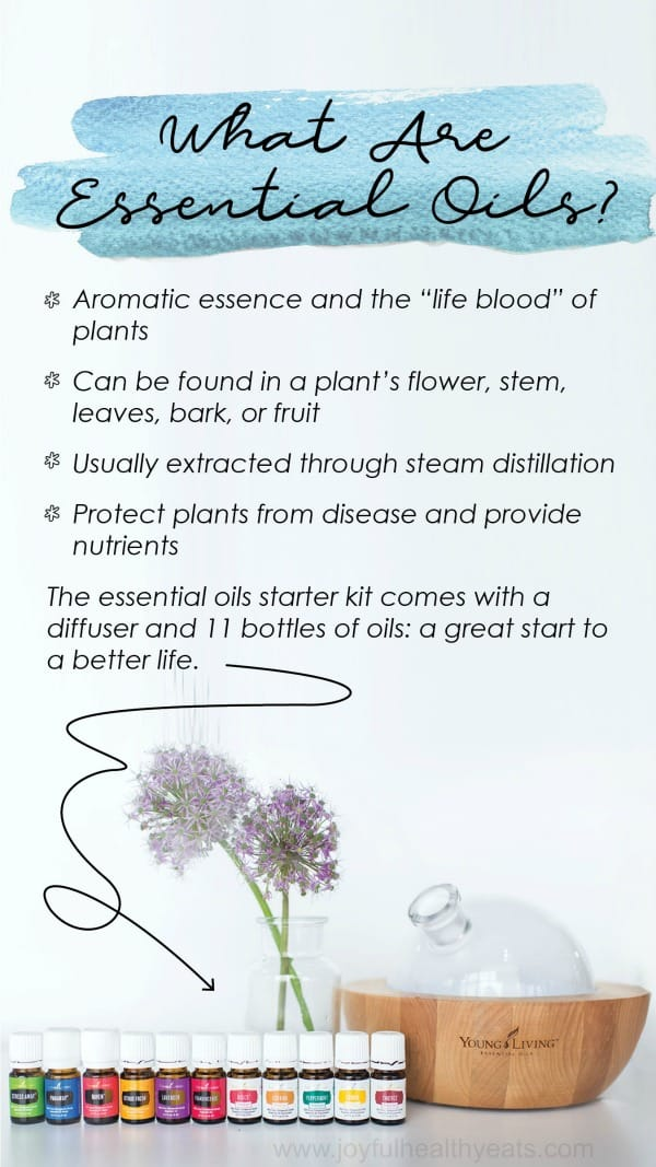 infographic about what essential oils are