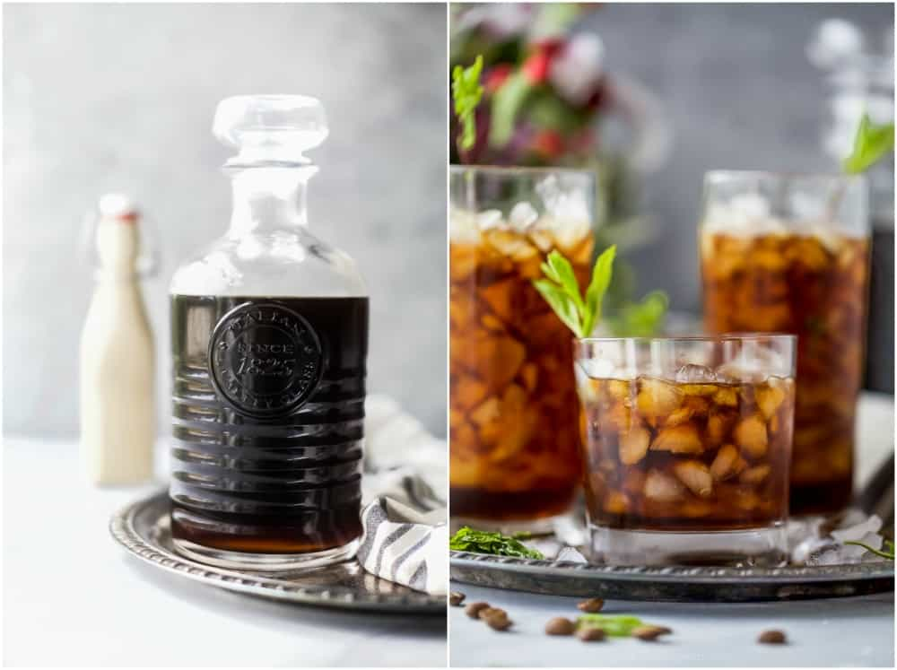 thai cold brew in a jar