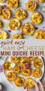 Easy Ham & Cheese Mini Quiches Perfect for Easter Sunday Brunch