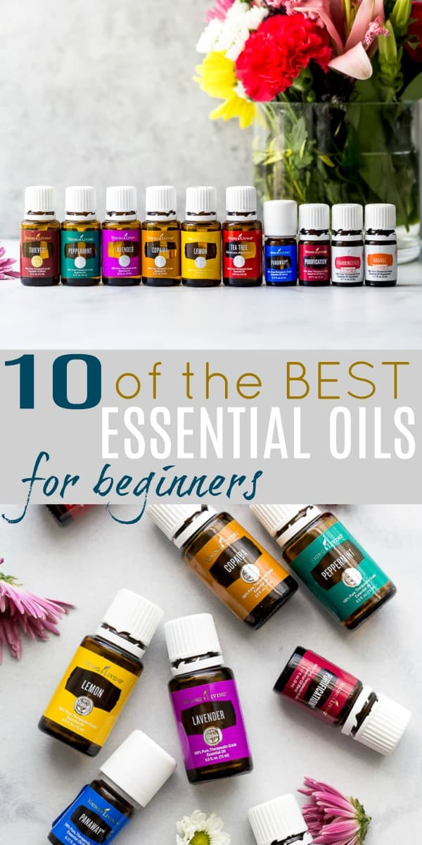 pinterest image for 10 of the BEST Essential Oils for Beginners