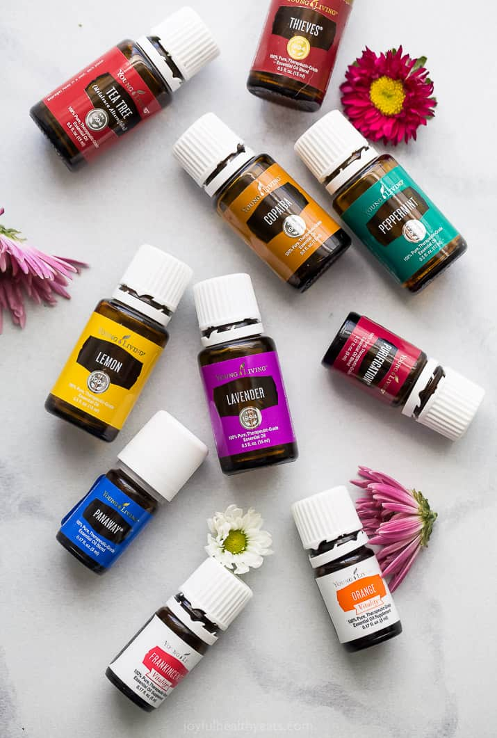 overhead photo of 10 of the Best Essential Oils for Beginners