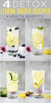 Slimming Detox Water | 4 Easy & Delicious Detox Water Recipes