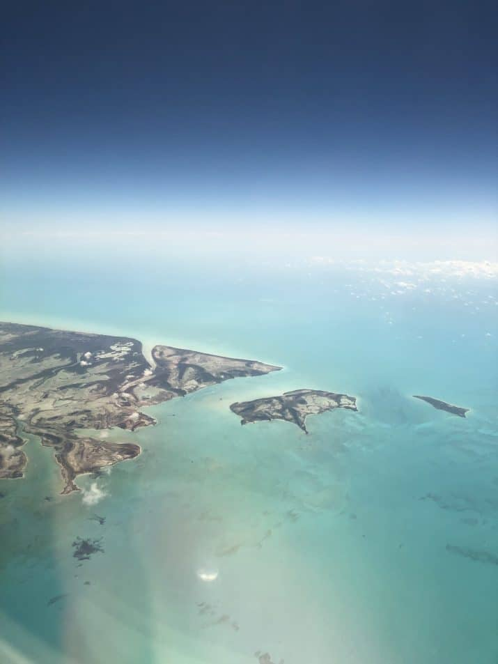aerial photo of bahamas island