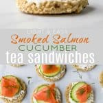 Smoked Salmon Cucumber Sandwiches Perfect for Mother's Day or Easter