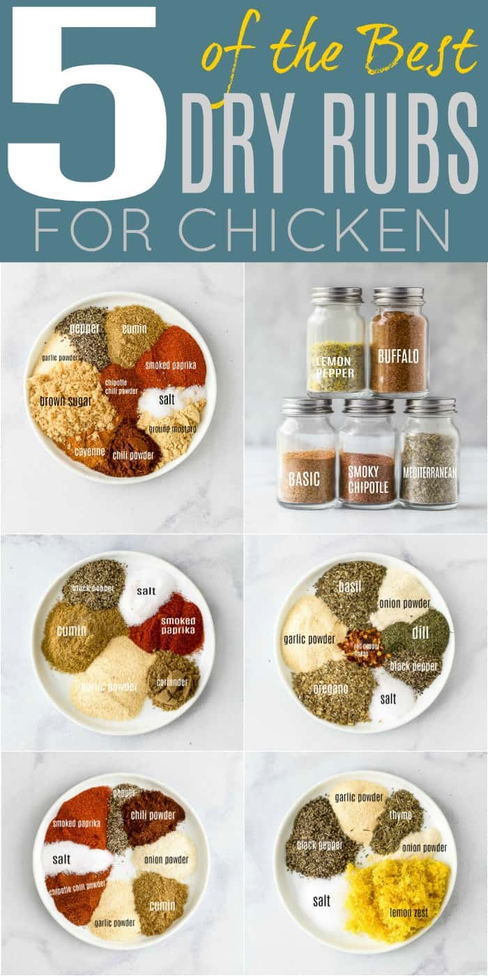 pinterest image for 5 of the Best Dry Rub Recipes for Chicken