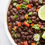 close up photo of mexican instant pot black beans