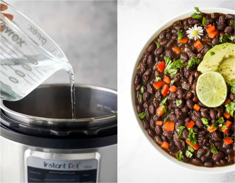 process photos of mexican instant pot black beans