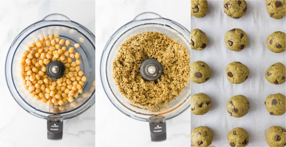 process photos of Vegan Cookie Dough Energy Balls