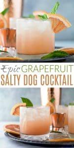 pinterest image for epic grapefruit salty dog cocktail recipe