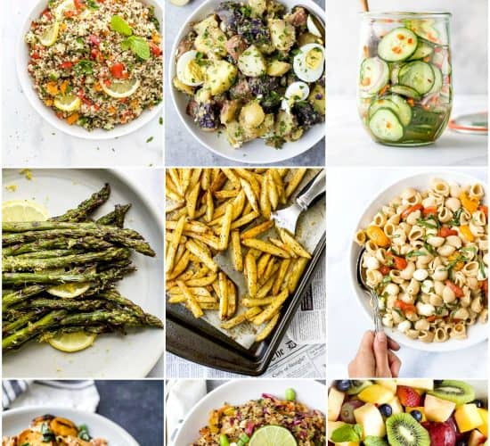 pinterest image for 30 of the BEST Healthy Sides perfect for Summer BBQs
