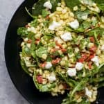 Image of a Bowl of Grilled Corn Salad with Jalapeno Dressing