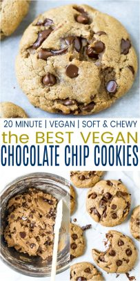 pinterest image for the best vegan chocolate chip cookies