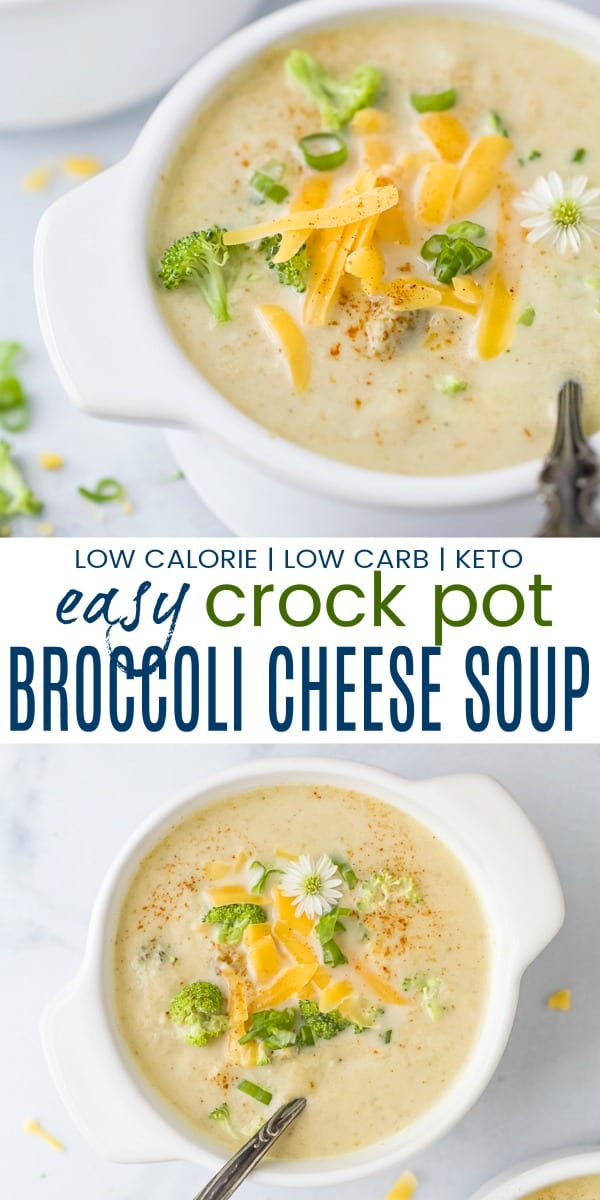 pinterest image for crockpot broccoli cheese soup