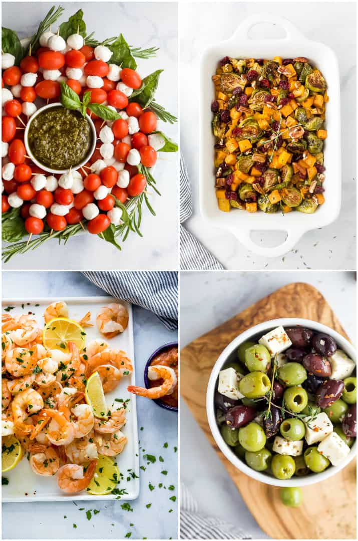 a collage of appetizers for8 Easy Hosting Tips for Stress-free Holiday Entertaining