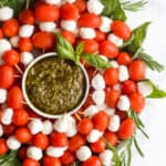 Caprese Skewers Wreath with Pesto-2