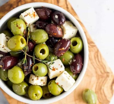 garlic marinated olive and feta recipe