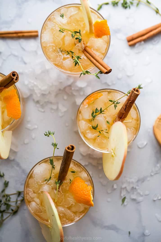 overhead harvest apple bourbon cocktail