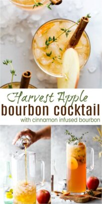pinterest image for harvest apple bourbon cocktail