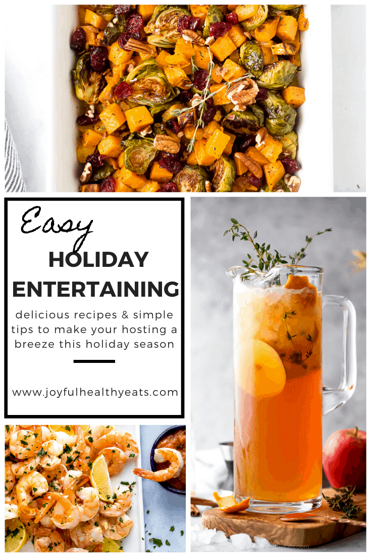 pinterest image for 8 Easy Hosting Tips for Stress-free Holiday Entertaining