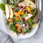 best spinach salad with apple pecans