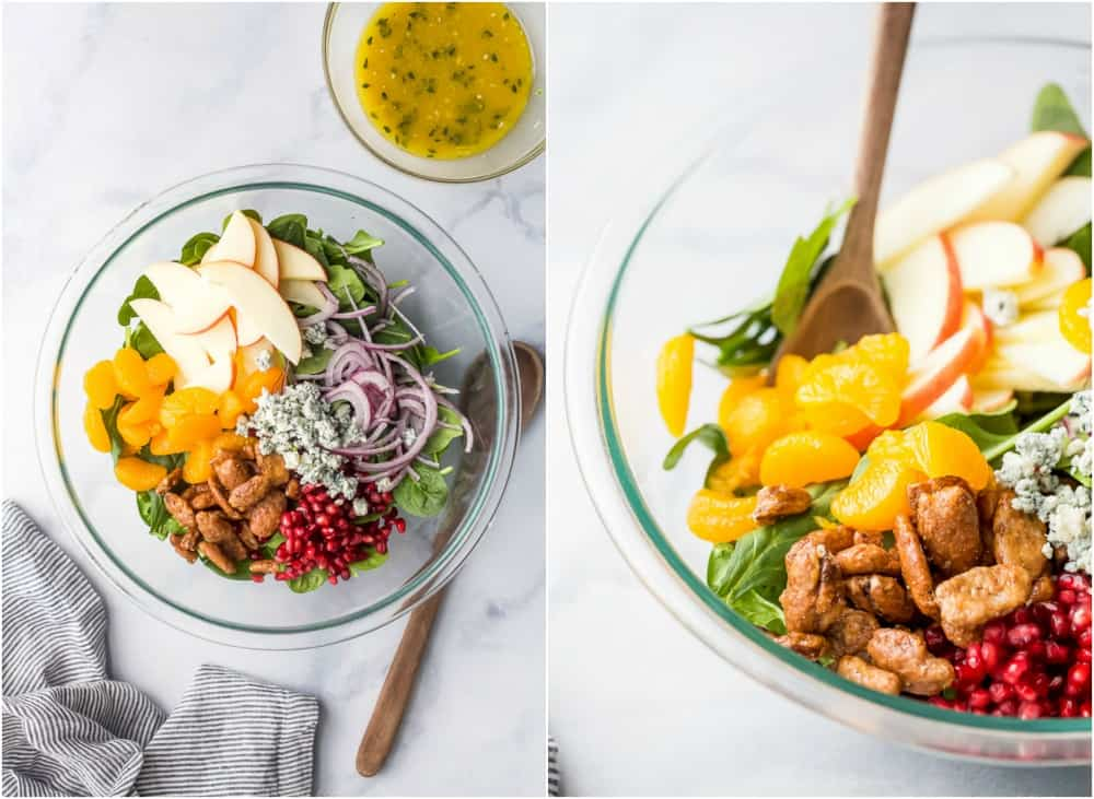 The Best Spinach Salad With Apples Candied Pecans