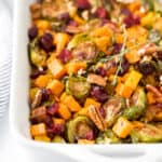 Maple Dijon Roasted Butternut Squash Brussel Sprout Salad