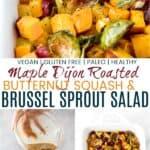 pinterest image for maple dijon roasted butternut squash salad