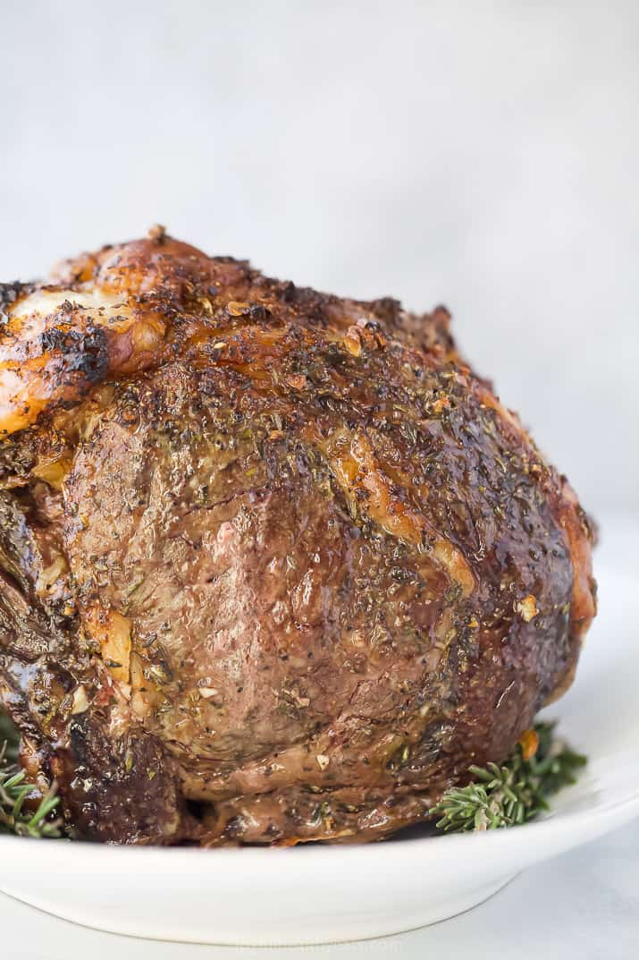 finished perfect garlic herb prime rib roast recipe