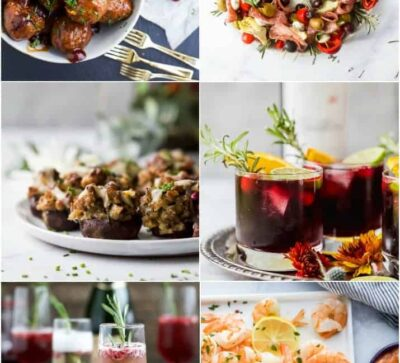 feature image for The Best 35 Appetizers and Cocktails for your Holiday Party