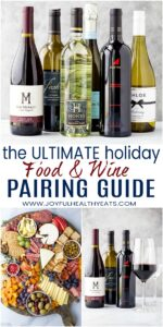 pinterest image for the ultimate food and wine pairing guide for the holidays