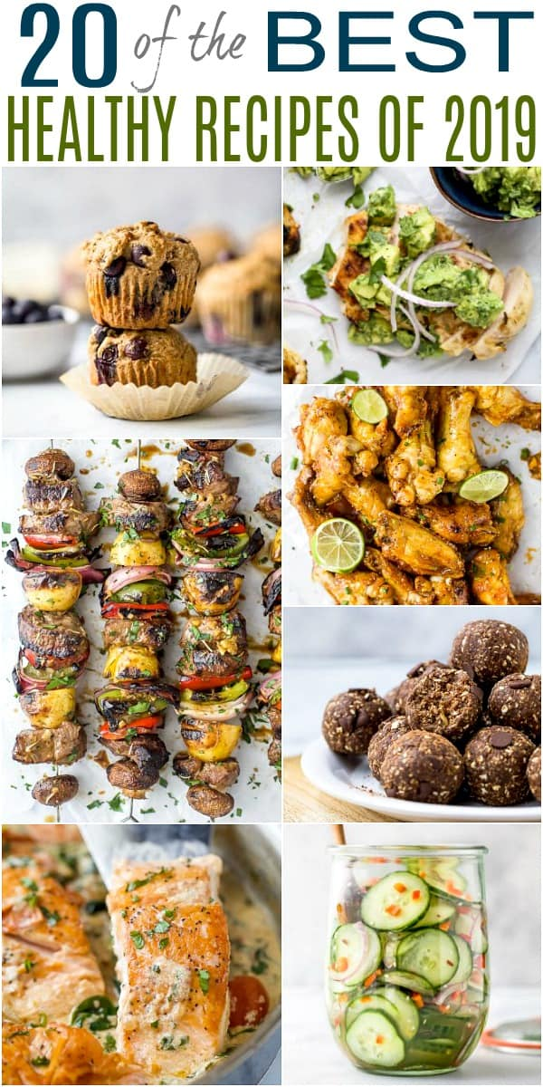 20 of the best healthy recipes of 2019 pinterest image