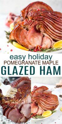 easy pomegranate maple glazed ham recipe