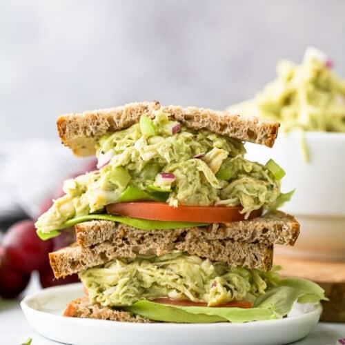 the ultimate paleo avocado chicken salad recipe on bread