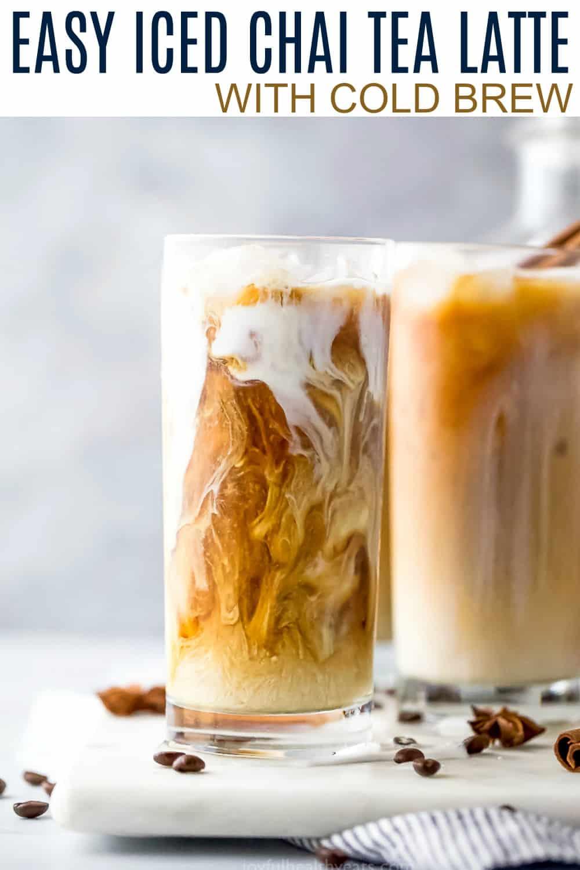 pinterest image for easy iced chai tea latte recipe