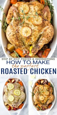 pinterest image for how to make the perfect easy roasted chicken recipe
