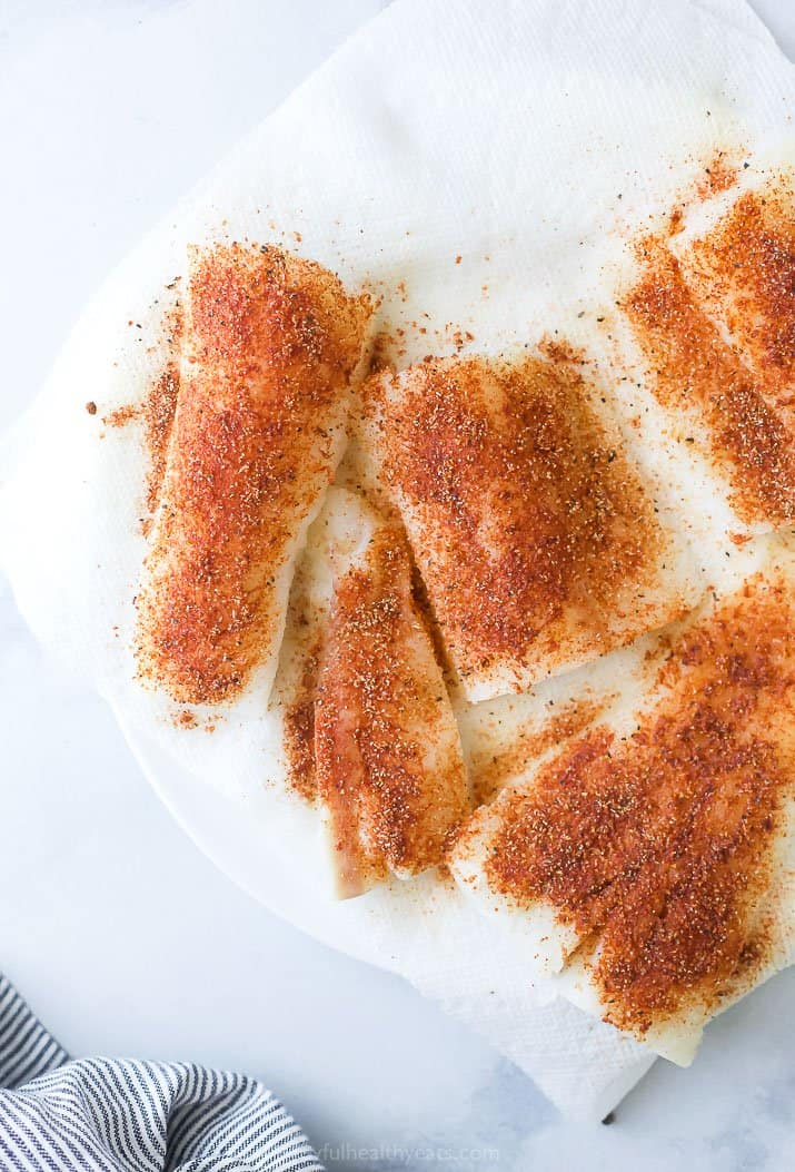 seasoned cod for baja fish tacos