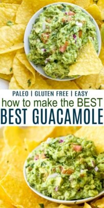 pinterest image for how to make the best guacamole recipe