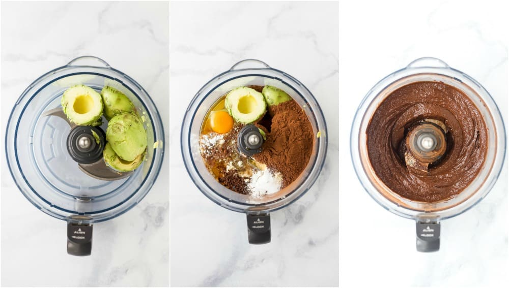 how to make avocado brownies in a food processor