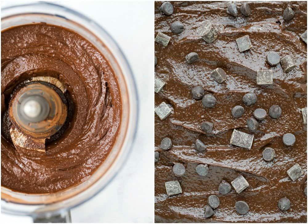 how to make double chocolate avocado brownie