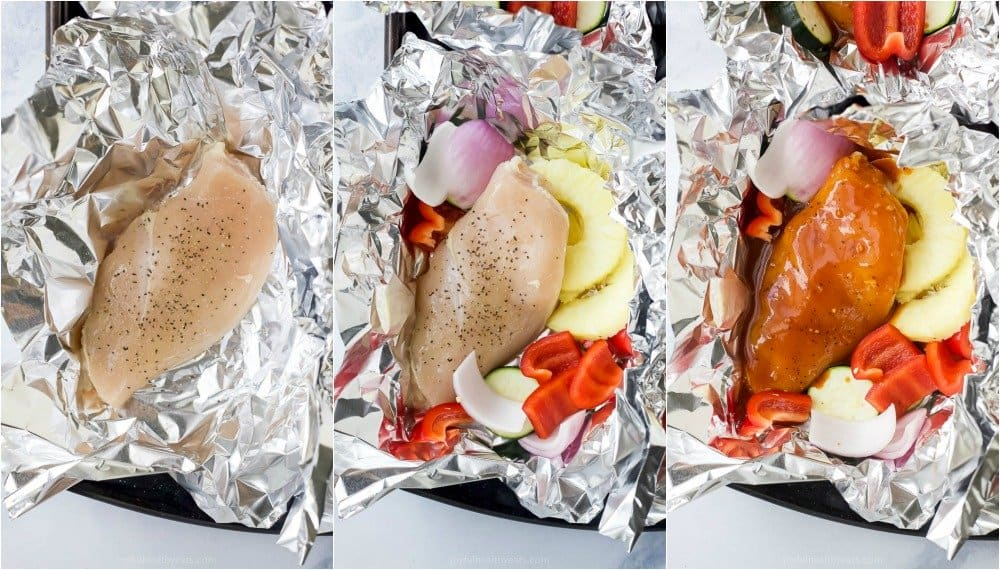 how to make hawaiian bbq chicken in foil packets
